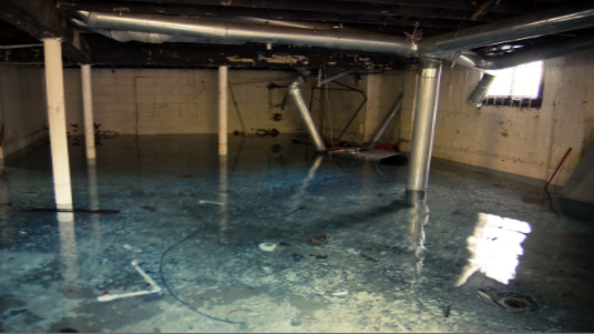 Basement Water Cleanup